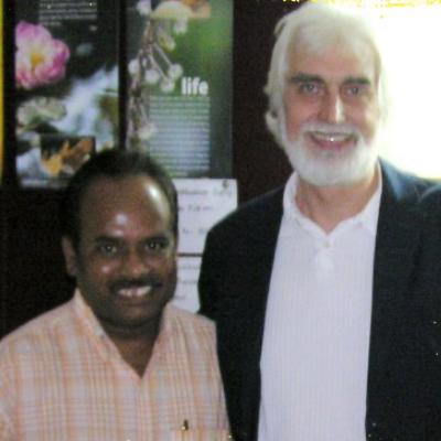 Ravi with Sw. Amrito